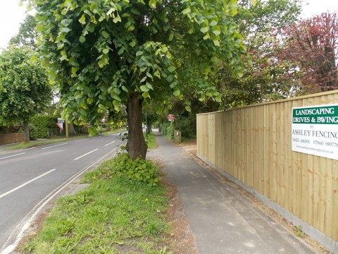 Closeboardfencing with concrete posts and concrete gravel boards in Barton on Sea